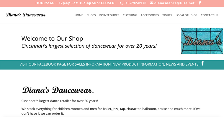 CATHY ULM WEB SITE DESIGN - DIANAS DANCEWEAR