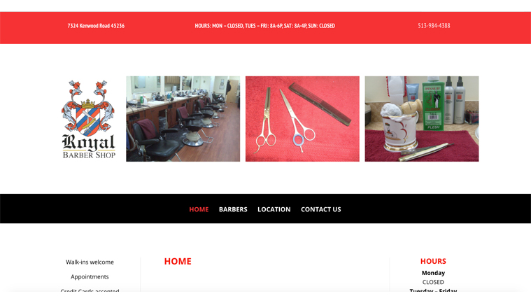 CATHY ULM WEB DESIGN - ROYAL BARBERS